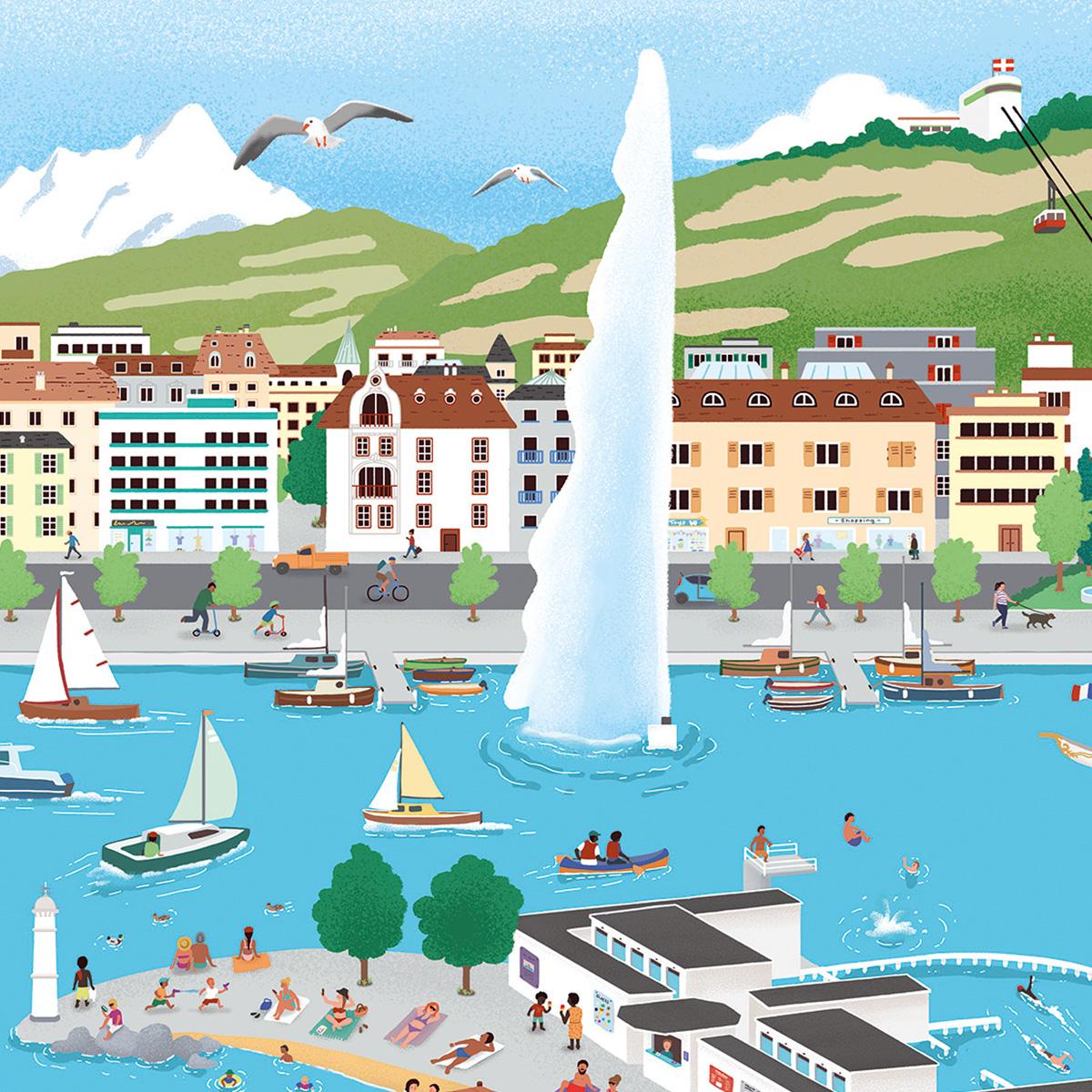 Mon Puzzle Suisse Genève 1